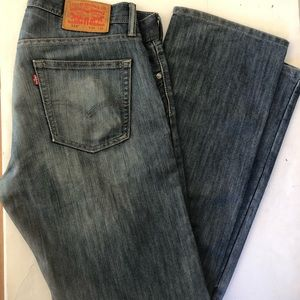 Levis 514 Mens Blue Denim Straight Fit Jeans 34x34